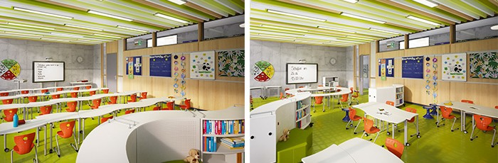 Modern Classroom Facilities ~ Vs shift for modern learning environments